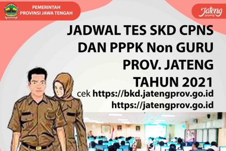 Jadwal dan lokasi SKD CPNS dan PPPK Non-Guru Pemprov Jateng