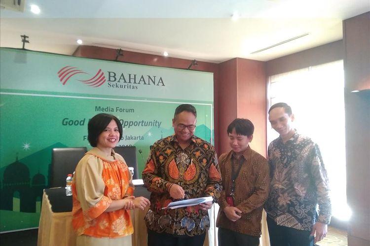 Pemaparan Ekonomi ke depan oleh PT Bahana Sekuritas di Jakarta, Kamis (23/5/2019)
