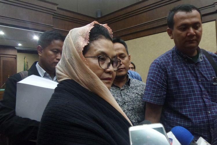 Mantan Menteri Kesehatan, Siti Fadilah Supari, menjadi terdakwa di Pengadilan Tipikor Jakarta, Rabu (31/5/2017).