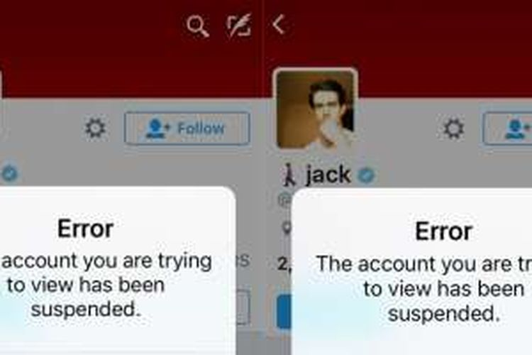 Akun Twitter Jack Dorsey diblokir