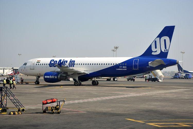 Salah satu pesawat milik maskapai penerbangan GoAir.