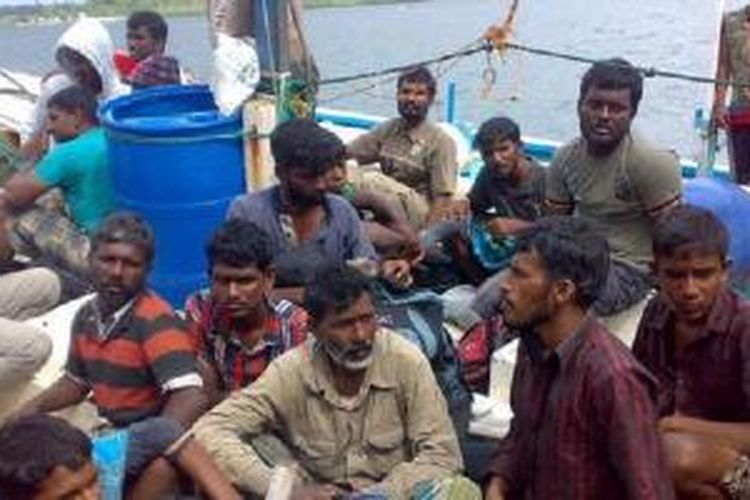 Ilustrasi. Pemerintah Australia akan memindahkan para pencari suaka ke Nauru, sebuah pulau kecil di Samudera Pasifik. | AFP