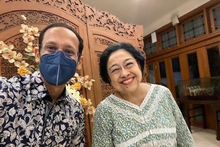 Mendikbud Nadiem Makarim berbicara dua jam bersama Ketua Umum PDIP Megawati Soekarnoputri.