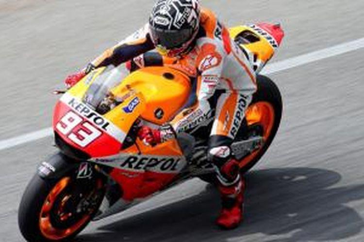 Marc Marquez menjadi yang tercepat di tes pra musim pertama MotoGP 2014.