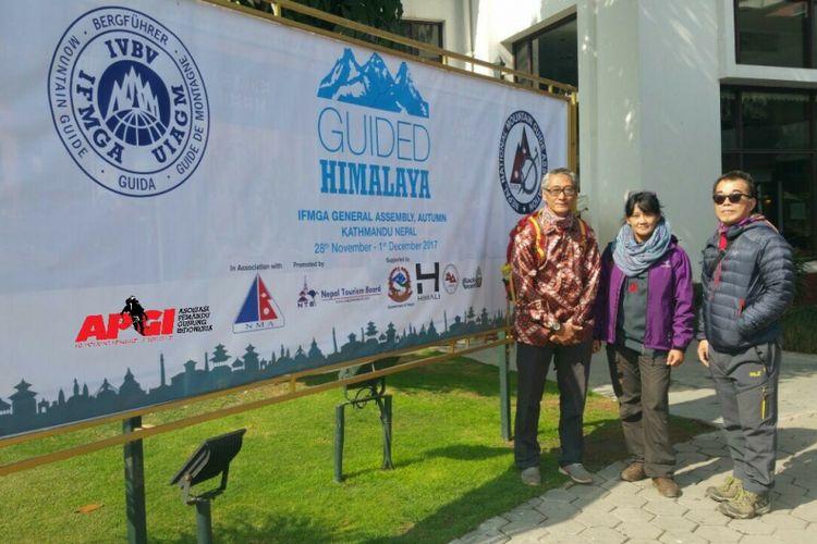 Asosiasi Pemandu Gunung Indonesia (APGI) hadir dalam acara pertemuan para asosiasi atau federasi pemandu gunung dari negara-negara di dunia yakni International Federation Mountain Guides Of Association (IFMGA), di Nepal, Kathmandu, Selasa (28/11/2017(.