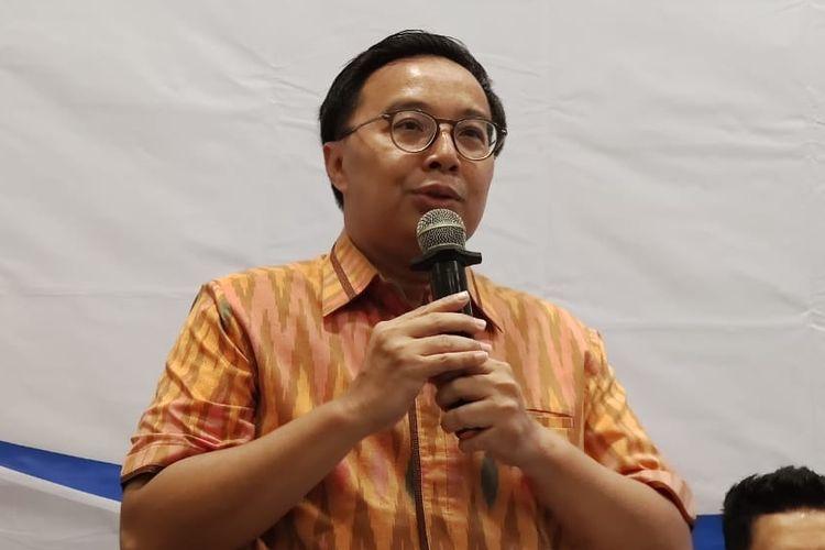 Bobby Rizaldi, Anggota Komisi I DPR RI Fraksi Golkar di diskusi tentang pajak Netflix di Jakarta, Kamis (16/1/2020).