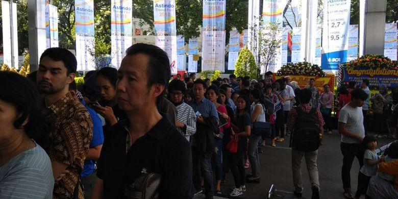 Pameran wisata Astindo Travel Fair 2018 digelar di Assembly Hall, Jakarta Convention Center, 2-4 Maret 2018.
