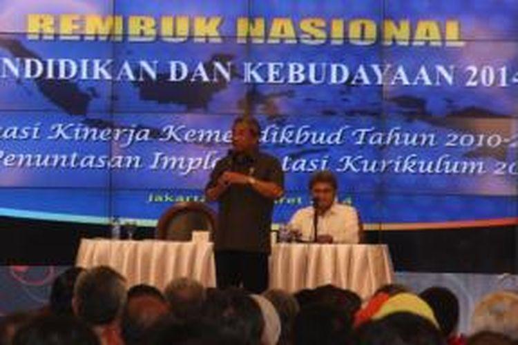 Mendikbud Mohammad Nuh mengatakan, Rembuk Nasional Pendidikan dan Kebudayaan 2014 akan membahas evaluasi kerja Kementerian Pendidikan dan Kebudayaan selama 2010-2014 yang tertuang dalam Rencana Pembangunan Jangka Menengah Nasional (RPJMN) serta pemantapan kurikulum 2013 yang akan diterapkan secara menyeluruh di sekolah-sekolah di Indonesia.