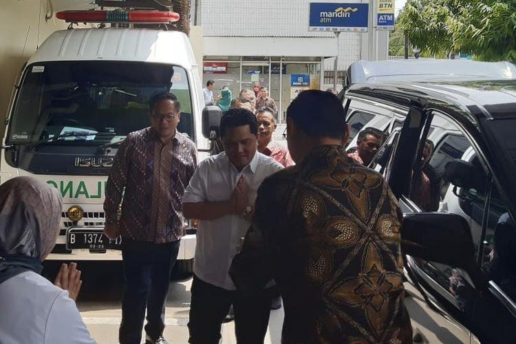 Menteri Badan Usaha Milik Negara (BUMN) Erick Thohir saat berkunjung ke Rumah Sakit Pertamina Jaya, Rabu (11/3/2020).