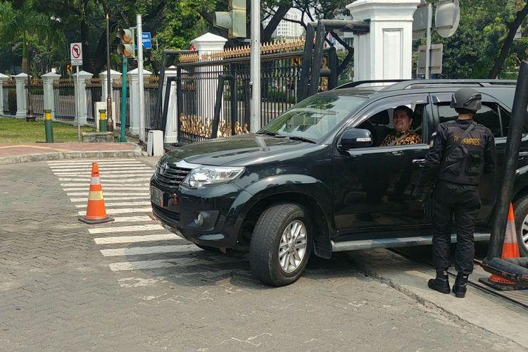 Pengamanan di Istana Kepresidenan, Jakarta, Senin (14/5/2018) diperketat pasca teror bom yang terjadi di Surabaya dan Sidoarjo.