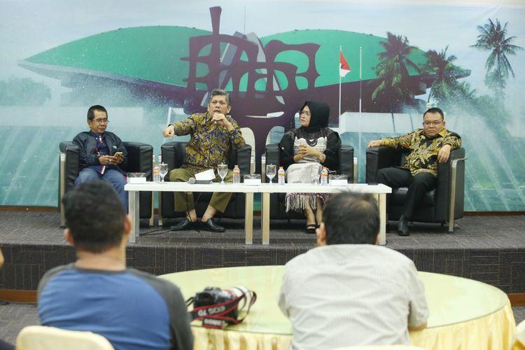 Diskusi Empat Pilar MPR yang digelar di Media Center, Gedung Nusantara III, Komplek MPR/DPR/DPD RI, Jakarta, Senin (12/8/2019).