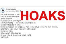 [HOAKS] Jakarta Lockdown Akhir Pekan Depan pada 12-15 Februari 2021