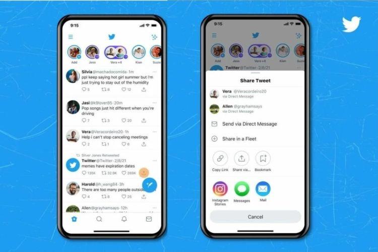 Cara membagikan tweet ke Instagram Stories