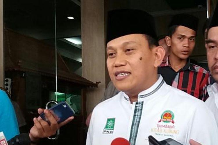 Sekretaris Jenderal Partai Kebangkitan Bangsa Abdul Kadir Kading di Kantor DPP PKB, Jalan Raden Saleh, Jakarta Pusat, Selasa (12/4/2016)