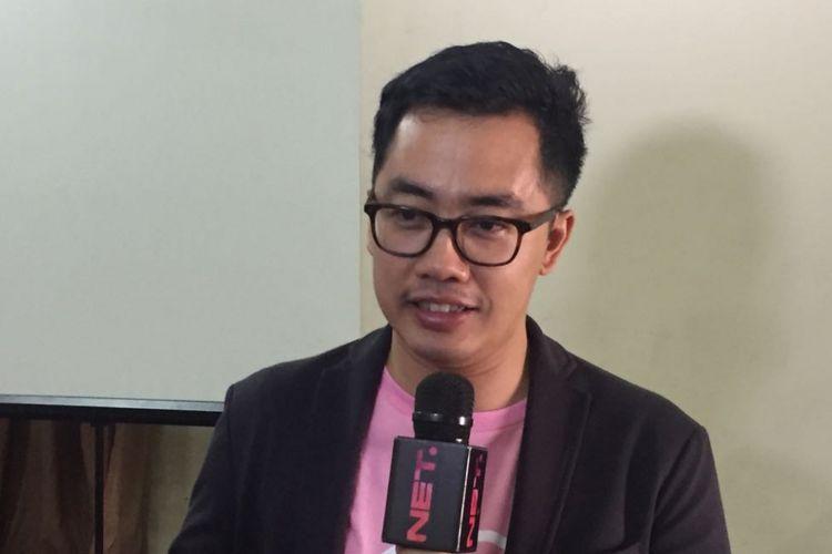 Dennis Adishwara menghadiri acara Diskusi Media Potensi Ancaman Peredaran Konten Negatif di Internet dan Peluncuran Gerakan #SiBerkreasi di Jakarta, Senin (2/10/2017)