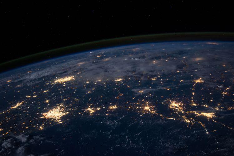 Ilustrasi planet Bumi
