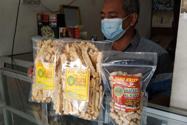 Olahan tahu di Kampung Tahu Tinalan, Kecamatan Pesantren, Kota Kediri, Jawa Timur.