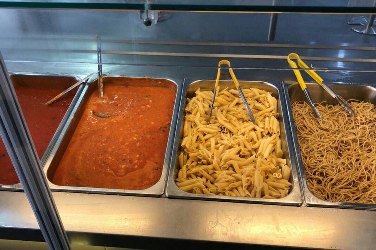 Aneka pasta jadi makanan favorit para atlet selama Asian Games 2018.