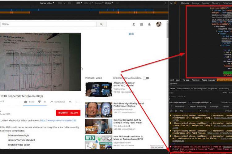 Iklan YouTube sempat disisipi JavaScript penambang cyptocurrency.