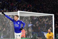 Leicester Vs Aston Villa, Jamie Vardy Cetak Gol ke-99 di Liga Inggris
