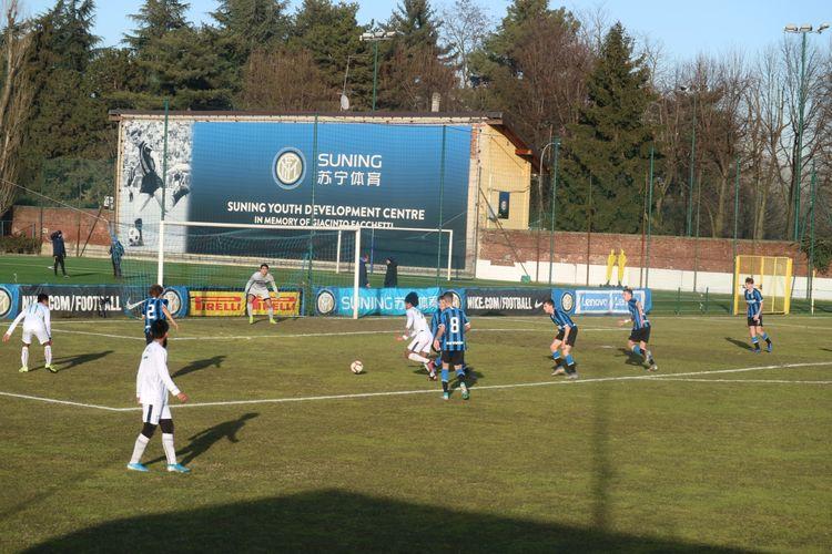Laga Garuda Select vs Tim U-17 Inter Milan yang berlangsung di Suning Youth Development Centre, Milan, Rabu (22/1/2020).