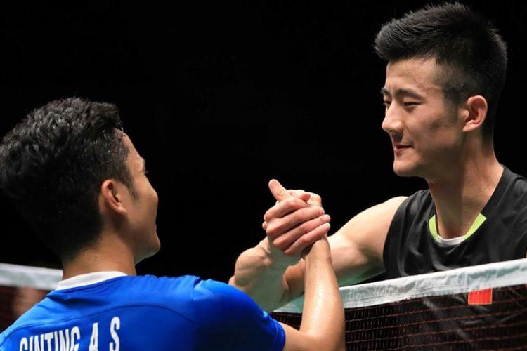 Semifinalis tungga putra Olimpiade Tokyo 2020, Anthony Ginting (Indonesia) Chen Long (China)