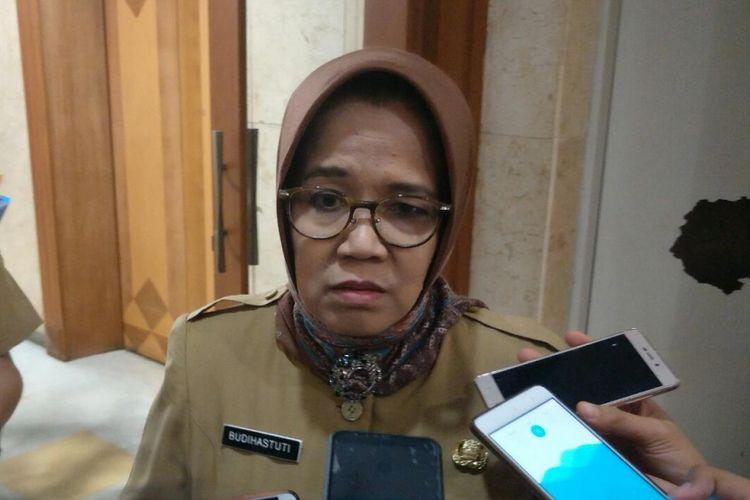 Pelaksana Tugas Kepala Badan Kepegawaian Daerah (BKD) DKI Jakarta Budihastuti di Balai Kota DKI Jakarta, Jalan Medan Merdeka Selatan, Selasa (18/9/2018).