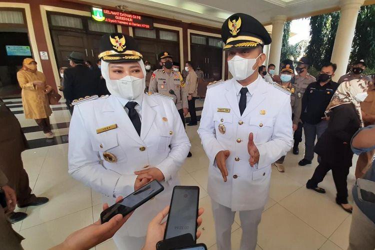 Jabat Bupati Pandeglang Irna Narulita mengaku akan fokus penanganan Covid-19