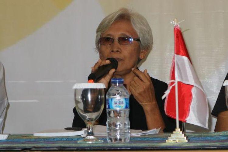 Maria Katarina Sumarsih saat diskusi di Setara Intstitute, Jakarta, Jumat (10/2/2017).