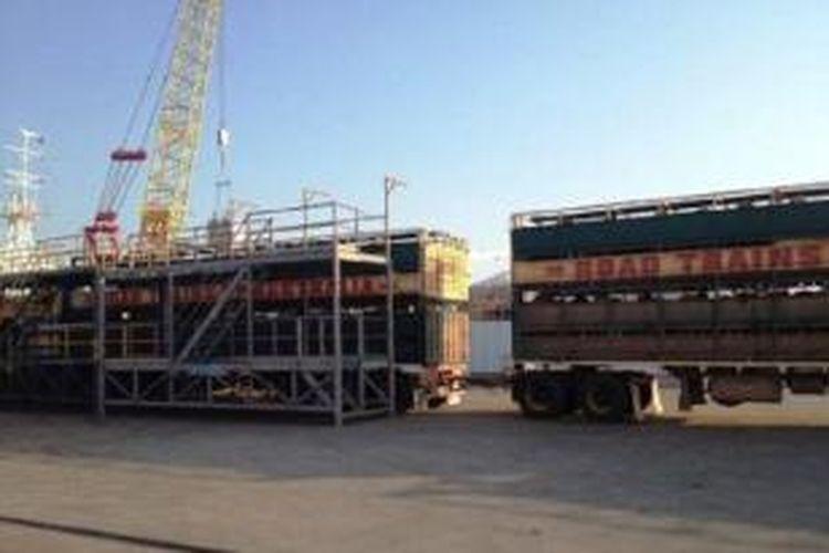 Sapi siap ekspor di Pelabuhan Darwin, Australia
