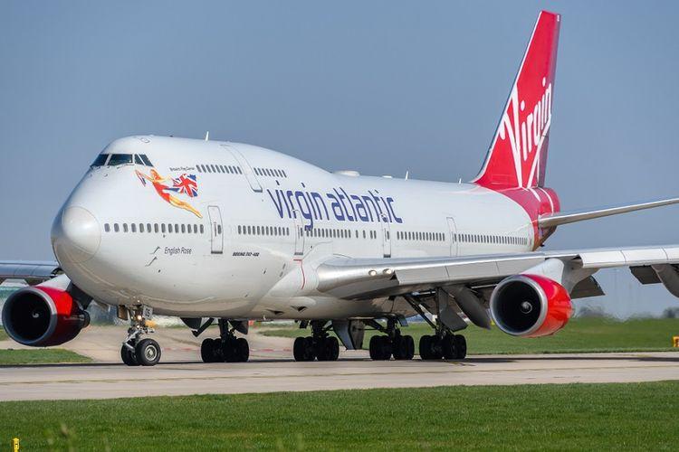 Pesawat milik maskapai Virgin Atlantic.