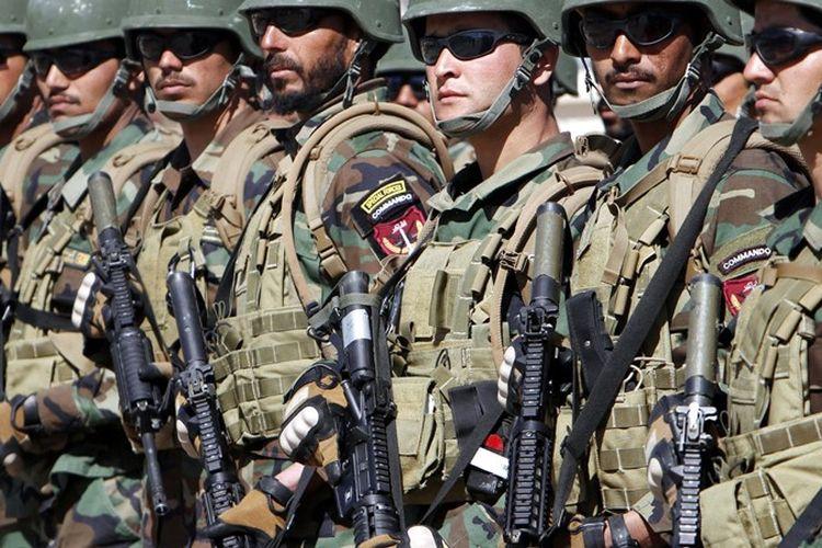 Pasukan khusus Afganistan.