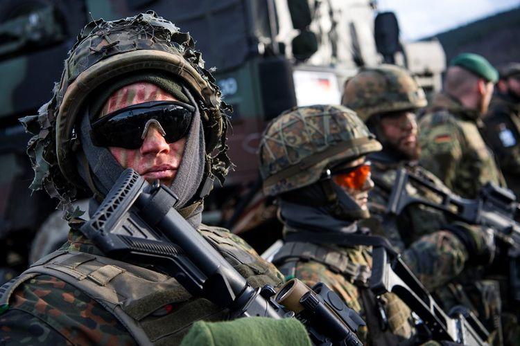 Tentara Jerman saat mengikuti latihan militer yang dipimpin NATO yang digelar di Norwegia, 30 Oktober 2018.