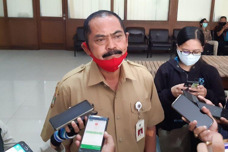 Wali Kota Solo, FX Hadi Rudyatmo ditemui di Balai Kota Solo, Jawa Tengah, Senin (11/5/2020).