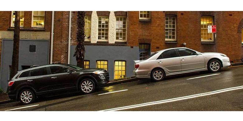 Ilustrasi parkir mobil