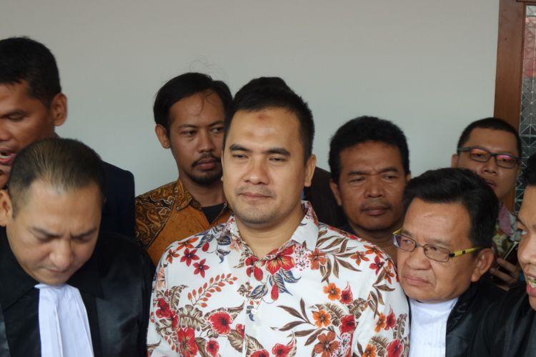 Saipul Jamil di Pengadilan Tipikor Jakarta, Rabu (26/4/2017).