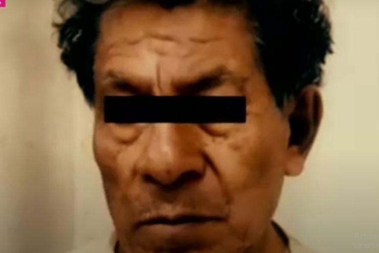 Andres Filomeno (72 tahun), tersangka pembunuhan dan kanibalisme terhadap puluhan wanita selama 20 tahun. [SS/Youtube/Excelsior TV]