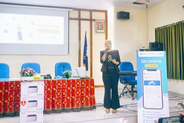 Pemaparan IDE dalam Rapat Kerja Nasional (Rakernas) ke-1 Ikatan Guru Indonesia (IGI), yang berlangsung di Kota Bengkulu, pada 10-11 April 2021.
