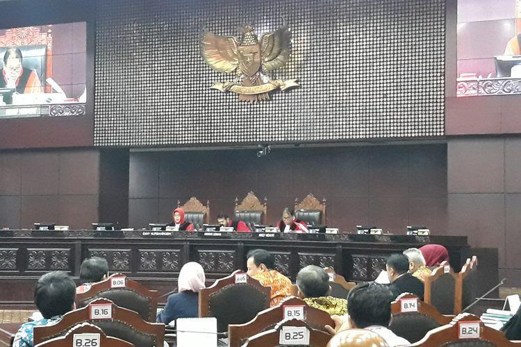 Sidang Sengketa Hasil Pileg di Mahkamah Konstitusi (MK), Jakarta Pusat, Rabu (17/7/2019).