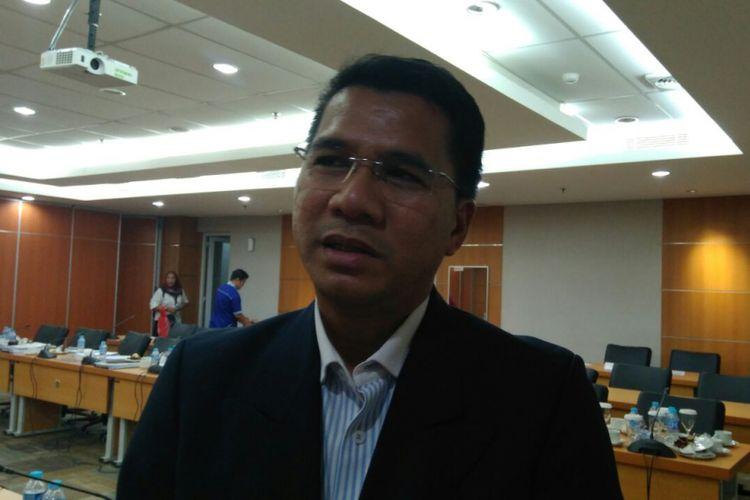 Direktur Utama PT Jakarta Tourisindo G Jeffrey Rantung di Gedung DPRD DKI Jakarta, Rabu (27/9/2017).