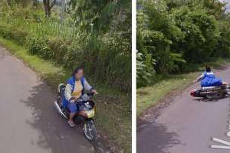 Perempuan ini terekam jatuh di Google Street View