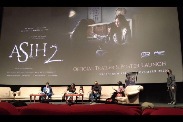 Konferensi pers film Asih 2 di XXI Epicentrum, Jakarta Selatan, Kamis (19/11/2020).