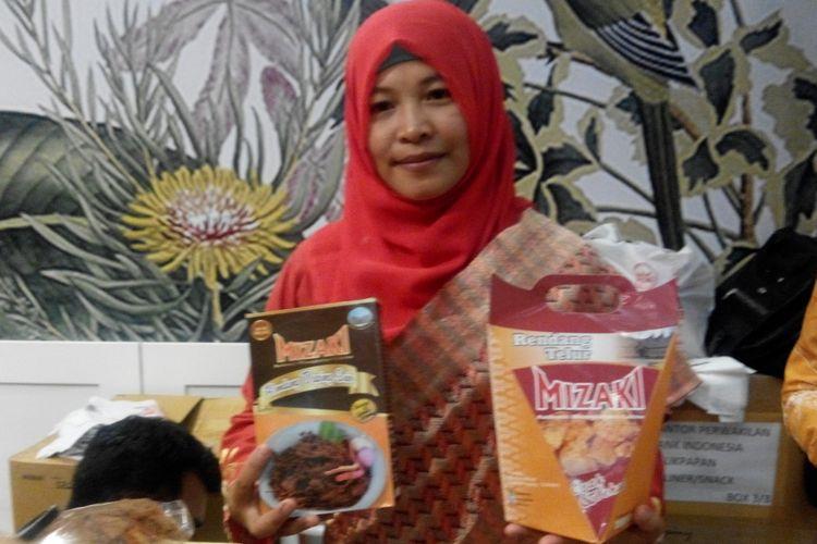 Ayu, pemilik dan pendiri usaha rendang Mizaki ketika ditemui di Jakarta Convention Center, Jakarta.