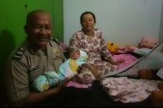 Ibu Melahirkan di Mobil Polisi Ucapkan Terima Kasih, Bayinya Belum Diberi Nama