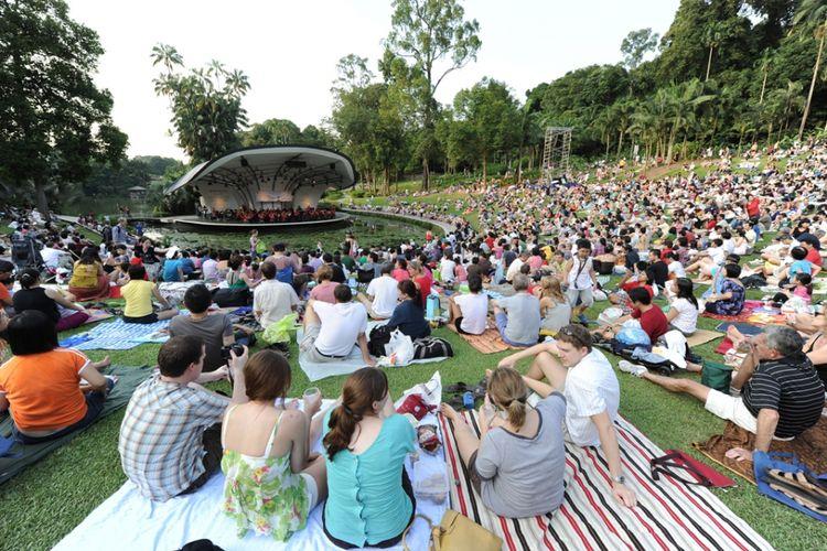 Symphony Lake di Singapore Botanic Gardens, Bukit Timah, Singapura.