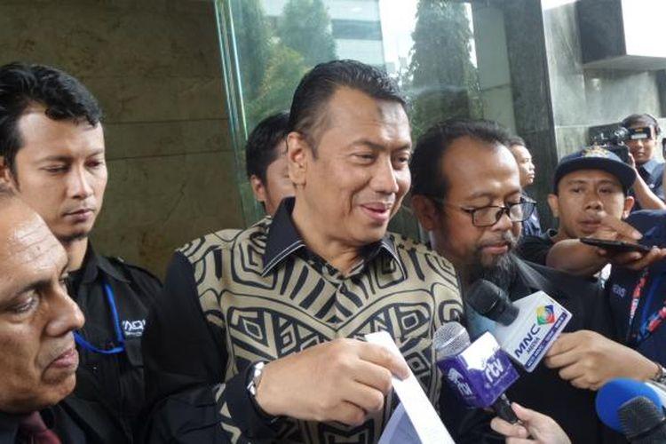 Tim pengacara Ketua GNPF MUI Bachtiar Nasir mendatangi kantor Bareskrim Polri, Jakarta, terkait panggilan terhadap kliennya, Rabu (8/2/2017).