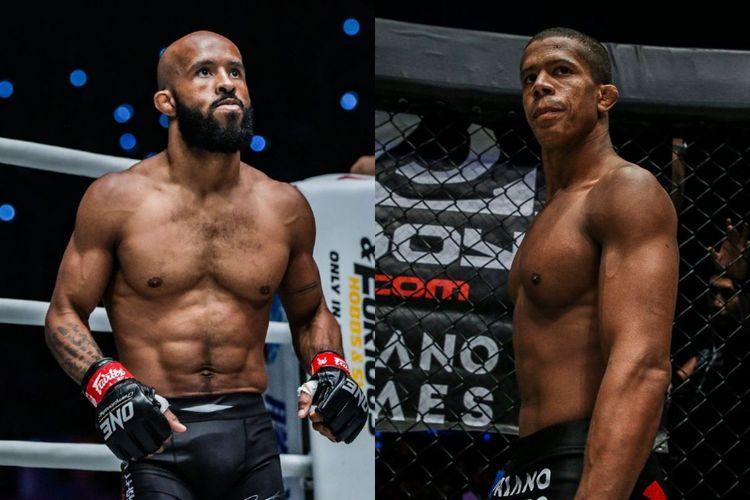 Dua petarung seni bela diri campuran (MMA) ONE Championship, Demetrious Johnson dan Adriano Moraes.