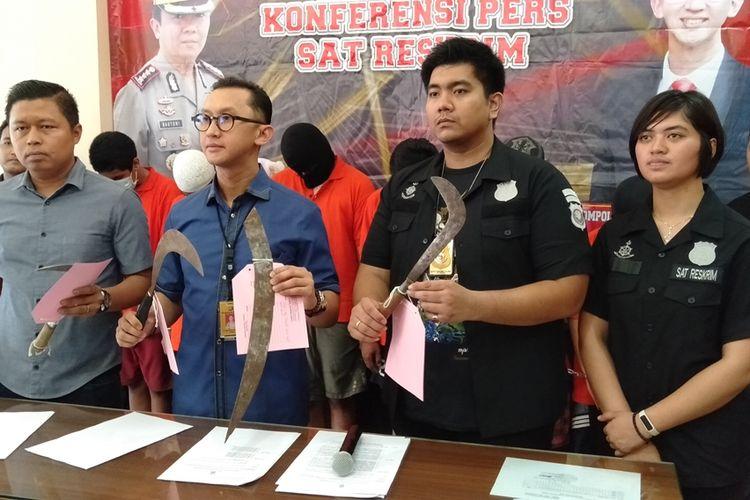 Kasatreskrim Polres Metro Jakarta Selatan, Andi Sinjaya Ghalib merilsi kasus pencurian motor di Polres Metro Jakarta Selatan, Kamis (14/11/2019)