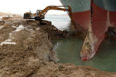 FOTO: Kondisi Terusan Suez Saat Ini, Berbagai Cara Belum Gerakkan Kapal Ever Given