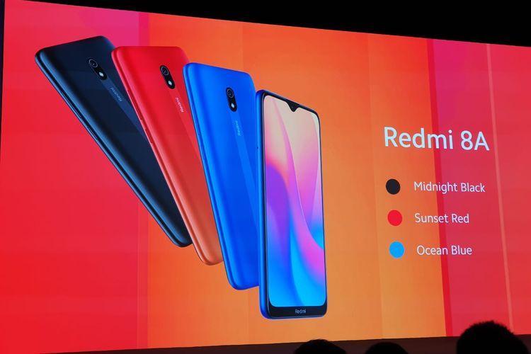 Redmi 8A tersedia dalam tiga pilihan warna.
